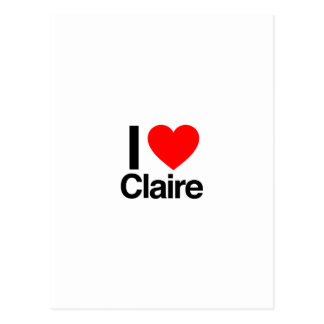 i love claire postcard