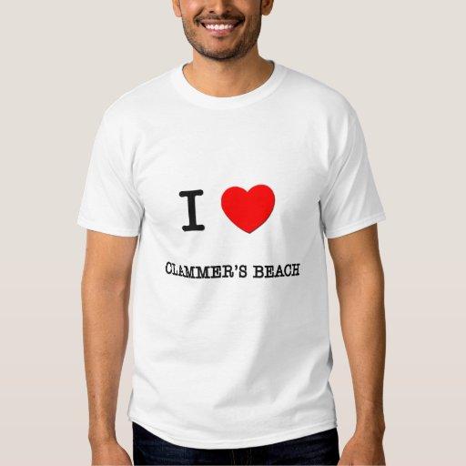 I Love Clammer'S Beach Massachusetts Tee Shirts