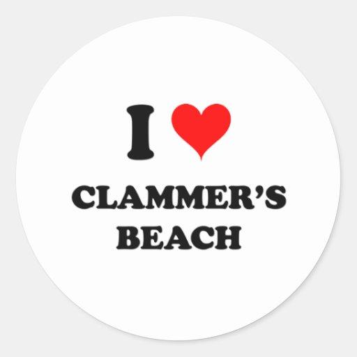 I Love Clammer'S Beach Sticker