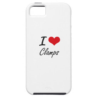 I love Clamps Artistic Design iPhone 5 Covers