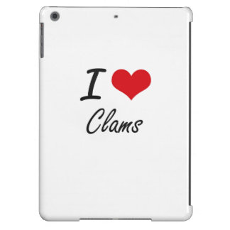 I love Clams Artistic Design iPad Air Covers