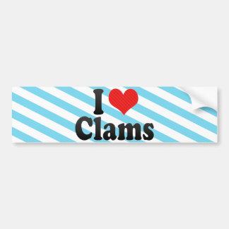 I Love Clams Bumper Sticker