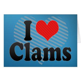 I Love Clams Card