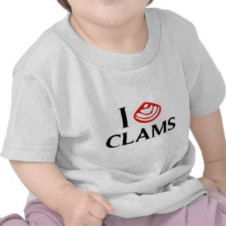 I Love Clams T-shirt