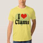 I Love Clams Tshirts