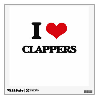 I love Clappers Room Sticker