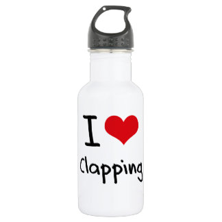 I love Clapping 18oz Water Bottle