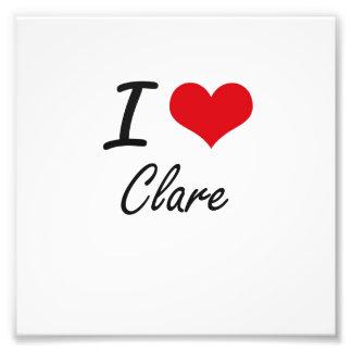 I Love Clare artistic design Photo Print