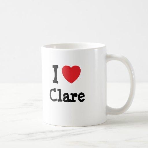 I love Clare heart T-Shirt Coffee Mugs