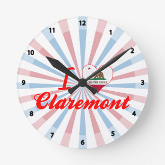 I Love Claremont, California Wall Clock