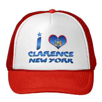 I love Clarence, New York Mesh Hats