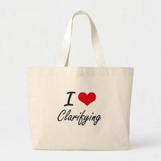 I love Clarifying Artistic Design Jumbo Tote Bag