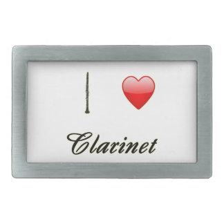 I Love Clarinet Belt Buckles