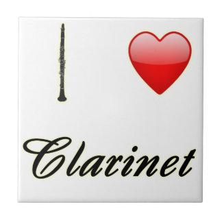 I Love Clarinet Ceramic Tile