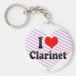 I love Clarinet Keychain