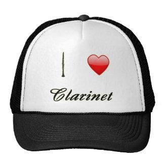 I Love Clarinet Mesh Hats