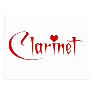 I Love Clarinet Postcard
