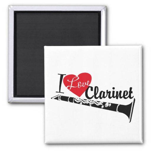 I Love Clarinet Refrigerator Magnet