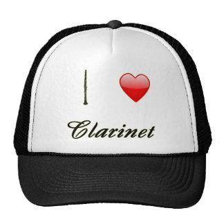 I Love Clarinet with Heart Hat