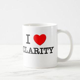 I Love Clarity Coffee Mugs