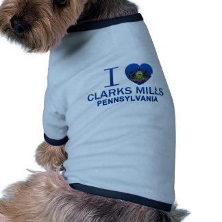I Love Clarks Mills, PA Pet Shirt