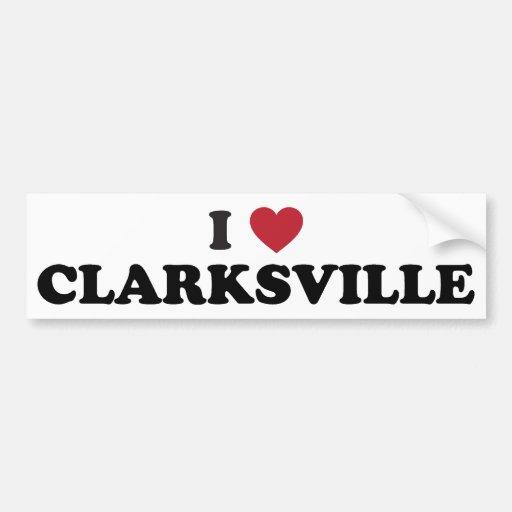 I Love Clarksville Illinois Bumper Sticker