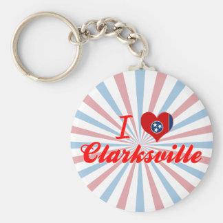 I Love Clarksville, Tennessee Keychain