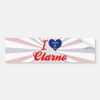 I Love Clarno, Wisconsin Car Bumper Sticker