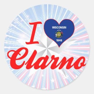 I Love Clarno, Wisconsin Classic Round Sticker
