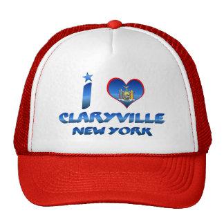 I love Claryville, New York Trucker Hats