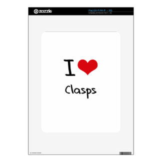 I love Clasps Decal For iPad