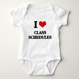 I love Class Schedules Tee Shirts