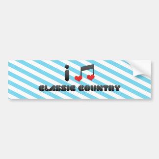 I Love Classic Country Car Bumper Sticker