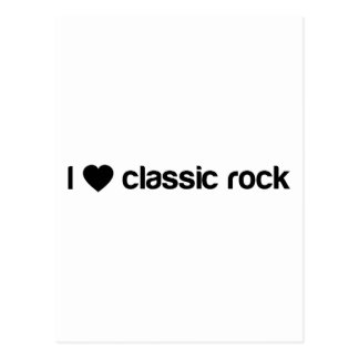 I Love Classic Rock Postcard