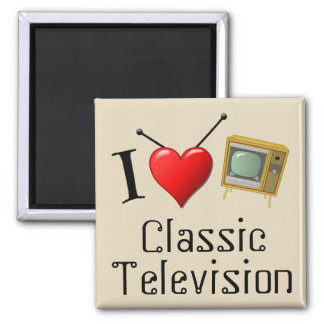 I Love Classic Television Magnet
