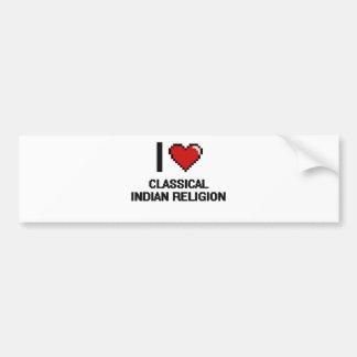 I Love Classical Indian Religion Digital Design Car Bumper Sticker