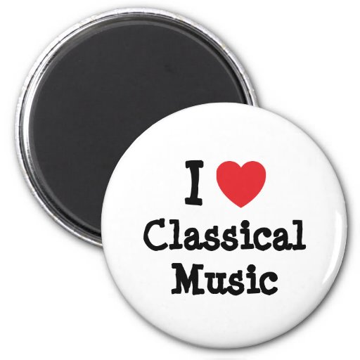 I love Classical Music heart custom personalized 2 Inch Round Magnet