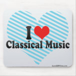 I Love Classical Music Mouse Pad