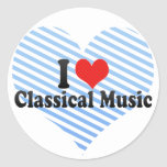 I Love Classical Music Stickers