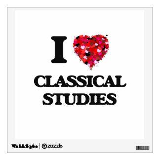I Love Classical Studies Wall Sticker