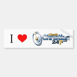 I Love ClassicChristian247.com Bumper Sticker Car Bumper Sticker