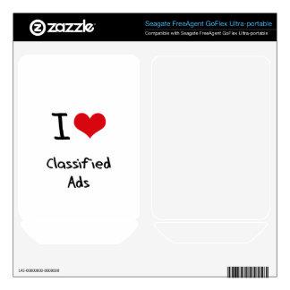 I love Classified Ads FreeAgent GoFlex Decals