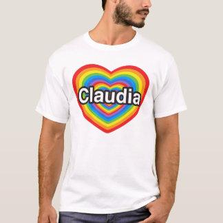 I love Claudia. I love you Claudia. Heart T-Shirt