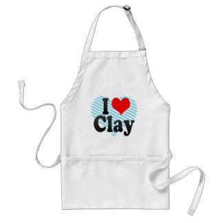 I love Clay Adult Apron