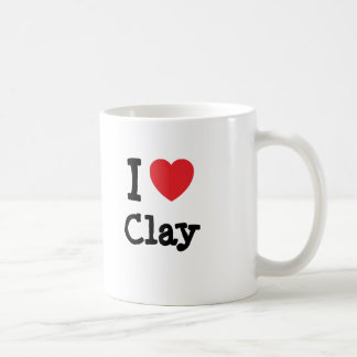 I love Clay heart custom personalized Coffee Mug