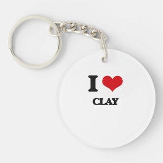 I love Clay Key Chain