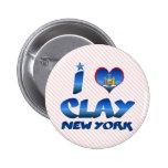 I love Clay, New York Pin