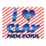 I love Clay, New York Post Cards