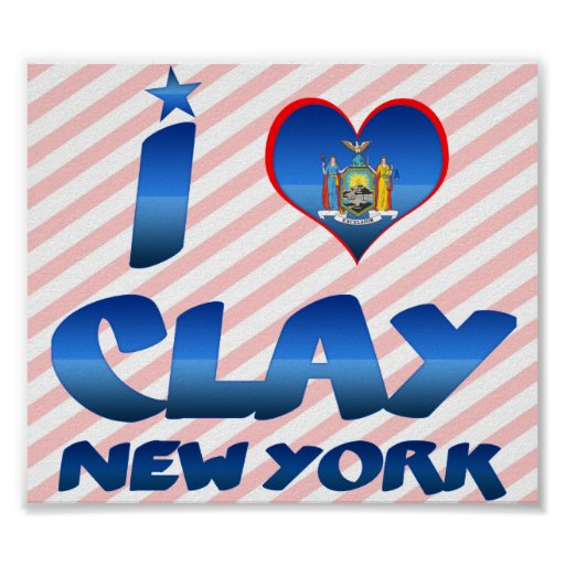 I love Clay, New York Poster