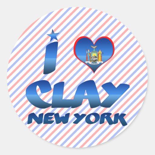 I love Clay, New York Stickers